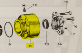 Bearing Housing No. 3982 fits 12WJ Jacuzzi Jet Drive — Fig. No. 8