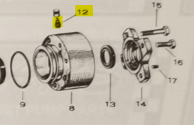 Grease Zerk Fitting for Bearing fits 12WJ Jacuzzi Jet Drive — Fig. No. 12