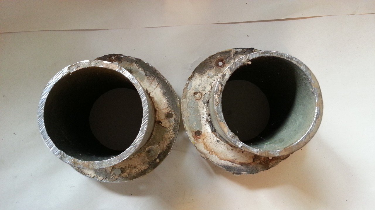 "3"" Chrome Plated Brass Exhaust Ports — USED"