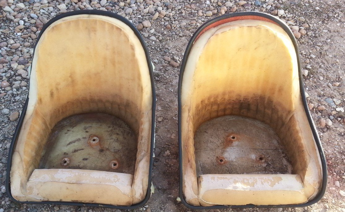 Fiberglass Bucket Seat Shells — USED