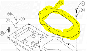 Intake Suction Housing Gaskets fit IK1507 Intake-SD309 — Fig. No. 3