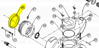Engine Mount Rings fit SD312 —  Fig. No. 26
