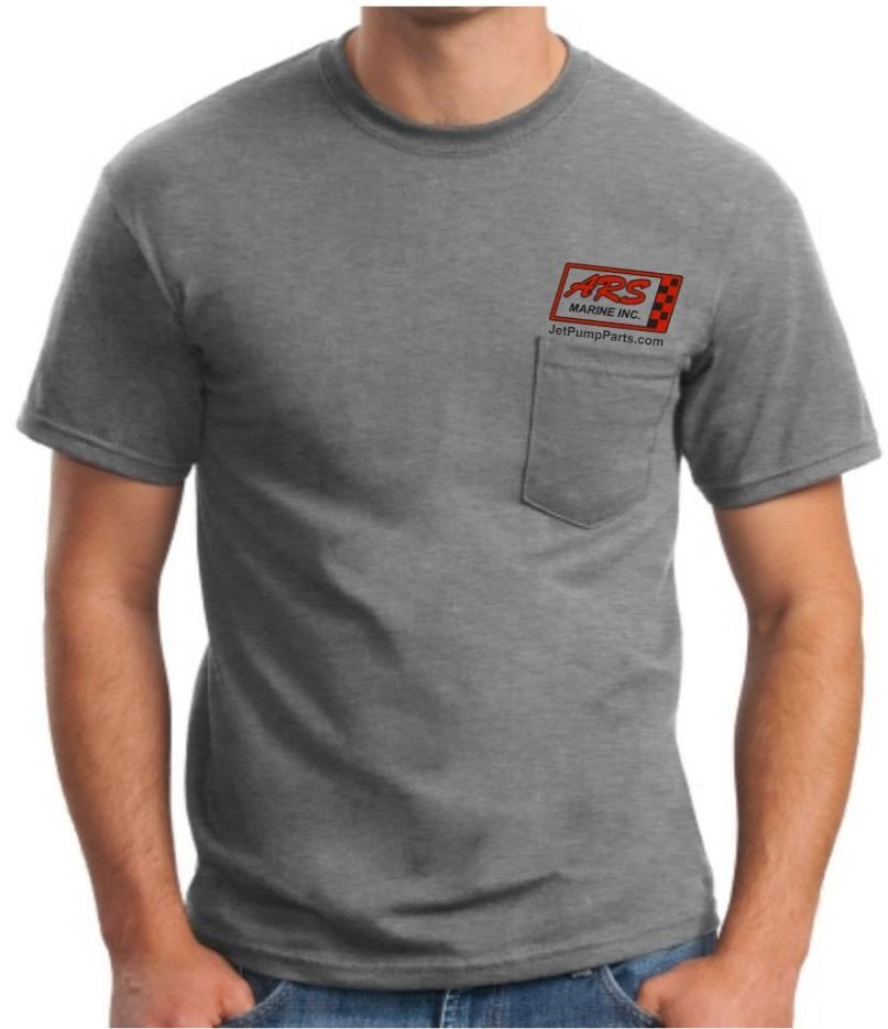 Grey ARS Jet Parts T-Shirt — Free Shipping