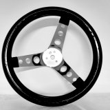 Max Grip Steering  Wheels — Stainless Steel with Black Plastisol Coating