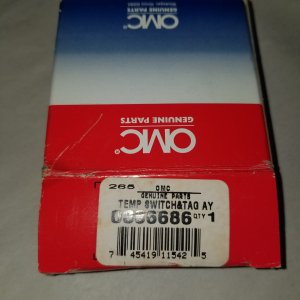 OMC Temperature Switch and Tag Assembly 386686 0386686 — (NOS)